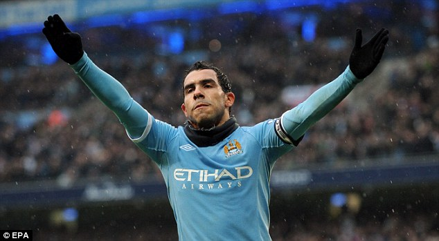 Star of the show: Carlos Tevez is key to Manchester City's future ambitions