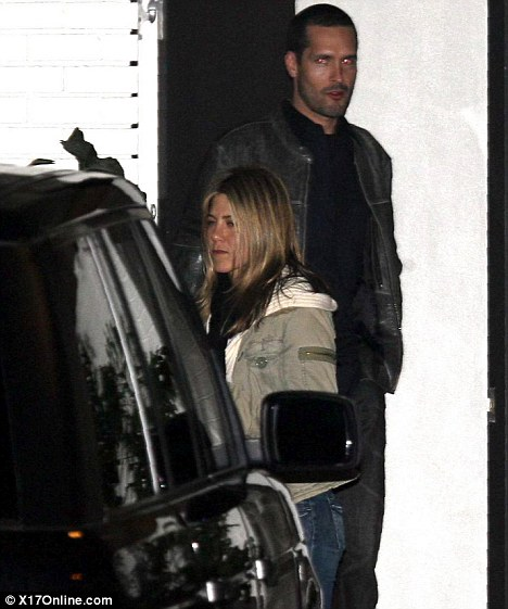 Meet my Friends: Aniston took Brian to a party at Courteney Cox's house in February 2008
