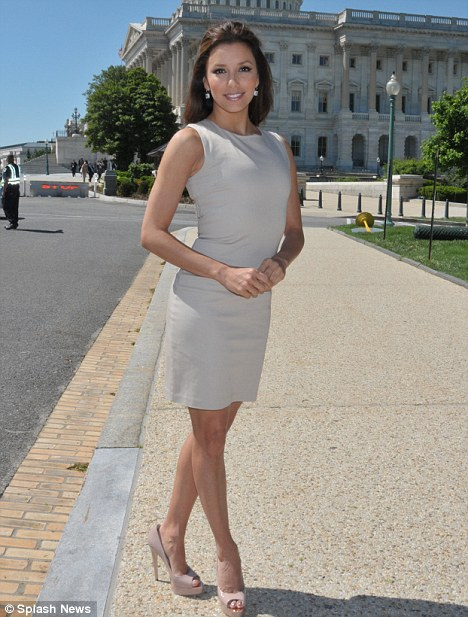 Canvassing: The Desperate Housewives star who is of Mexican Heritage was in Washington DC to discuss the National Museum of the American Latino