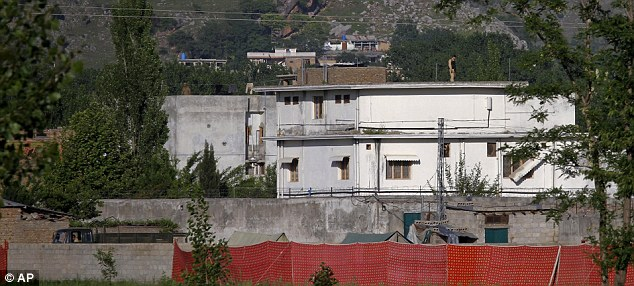 Discreet: The CIA moved into a house nearby Bin Laden's compound and were able to remain undetected by a mixture of extraordinary skill and the local conditions that helped the terrorist leader hide for so long
