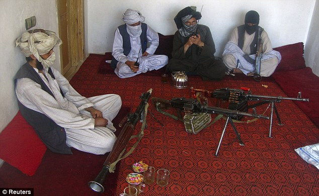 Hideout: The Afghan Taliban fighters will mourn Bin Laden but his death is unlikely to have a serious impact on the group's operations