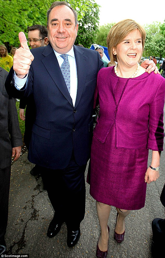 Referendum here we come: Alex Salmond with deputy Nicola Sturgeon