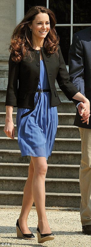 Duchess of Cambridge chose Zara for her going-away outfit on the morning after the royal wedding