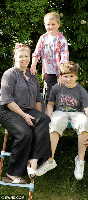 Amazing: Michelle Whitaker was devastated when her eldest child Charlie, 12, was born with a rare condition which prevented his body from creating red blood cells