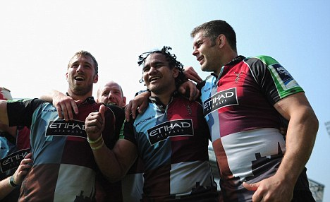 Crucial game: Harlequins need a win for a chance of a Heineken Cup spot