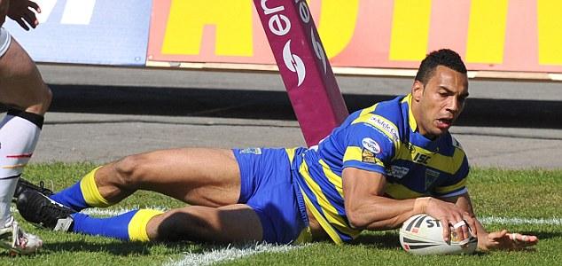 Life of Ryan: Atkins scored a hat-trick in Warrington's huge win