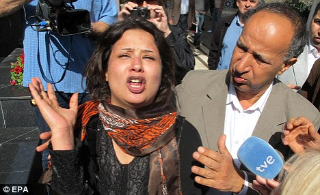 Escaped: Iman al-Obeidi fled to safety in Tunisia after fearing for her life but has now been returned to Libya