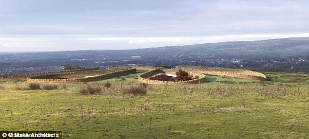 Low profile: The innovative design is intended to have minimal impact on views of the Lancashire hills and has been likened to a Neolithic settlement