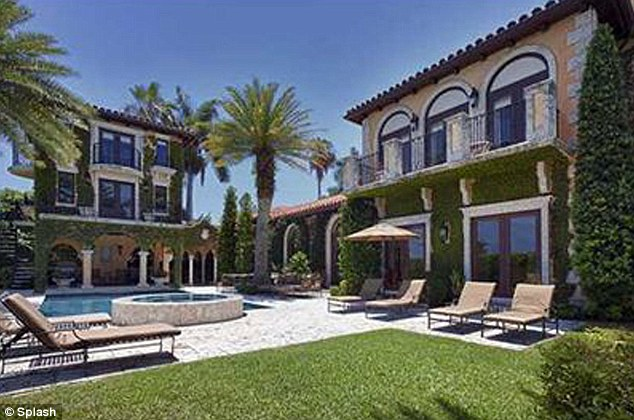 Luxury: The mansion comes with a guest house, a heated swimming pool an sauna and boat dock