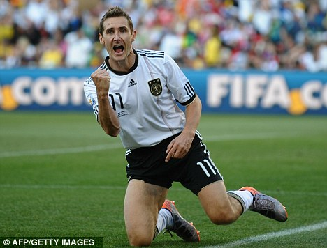 World Cup pedigree: Miroslav Klose has netted 61 goals for Germany in 107 appearances
