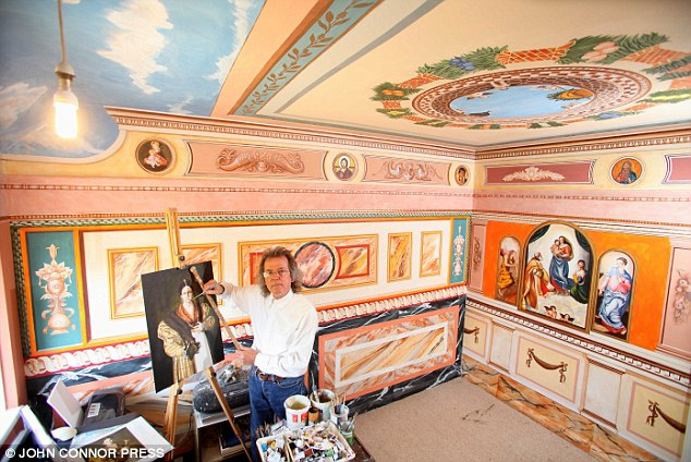 Inside his council flat, Robert Burns has created something that represents the Sistine Chapel