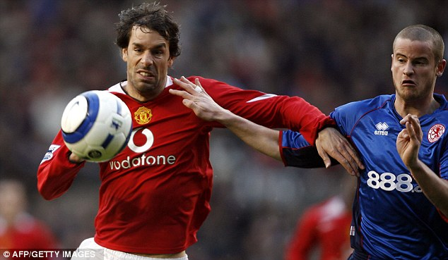 Goals galore: Van Nistelrooy was a prolific force for Manchester United during his time at Old Trafford