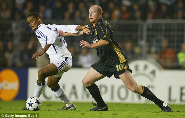Rising star: Kompany attracted plenty of attention while at Anderlecht in Belgium