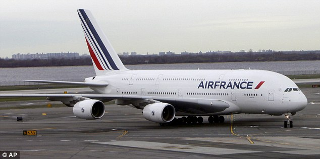 Last minute hitch: Air France Flight 23 from JFK to France took an unexpected turn, even before it had left the runway