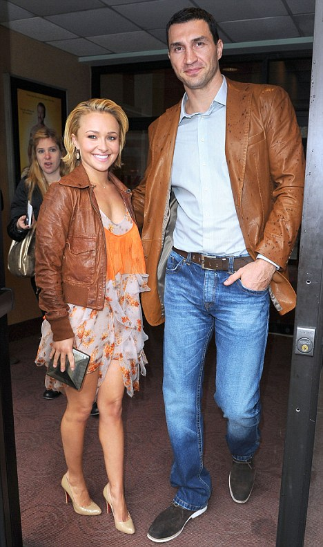 Over: Hayden confirmed that she parted ways with her huge boxer boyfriend Wladimir two weeks ago