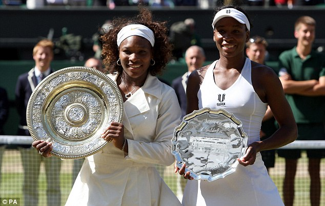 Anything you can do, I can do better: Serena Wlliams, left, has played Venus at her own game and won (pictured here after winning the 2009 Wimbledon final)