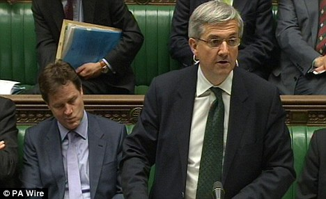 Savaged: Lib Dems Chris Huhne and Nick Clegg took a pounding in Parliament after the recent scandal over Huhne's penalty points