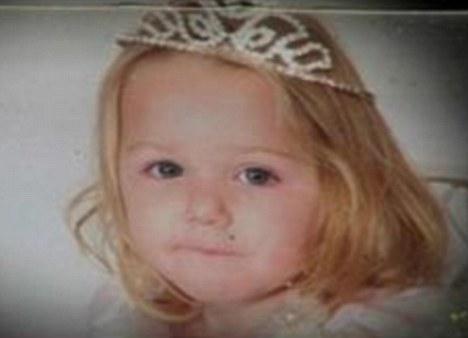 Tragic: Alissa Jones, two, died when the building collapsed in Morrilton, Arakansas