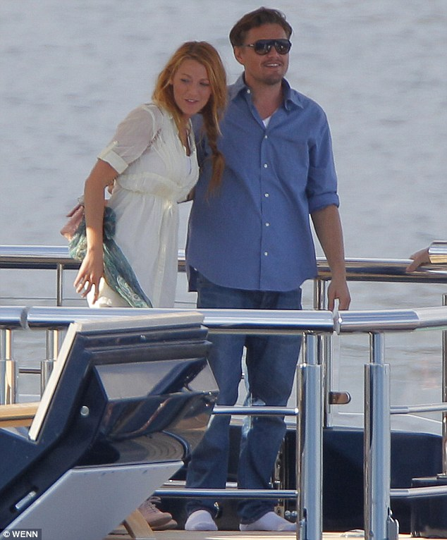 More than friends? Nearby, Blake and Leo put on an affectionate display as they soaked up the sun in the South of France