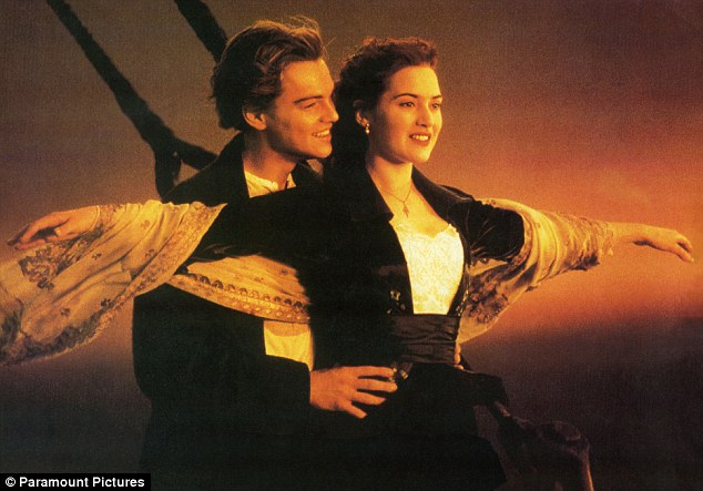 Lothario on the high seas: DiCaprio knows how to charm ladies on boats, seen here in an iconic scene from his 1997 film Titanic with co-star Kate Winslet