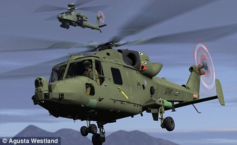 Done deal: AgustaWestland was awarded the £1billion contract to build a new generation of helicopters for the Armed Forces in 2005 when Hoon was Defence Secretary