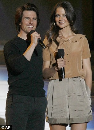 All-star guests: Hollywood power couple Tom Cruise and Katie Holmes jetted in from Miami especially for the Chicago taping