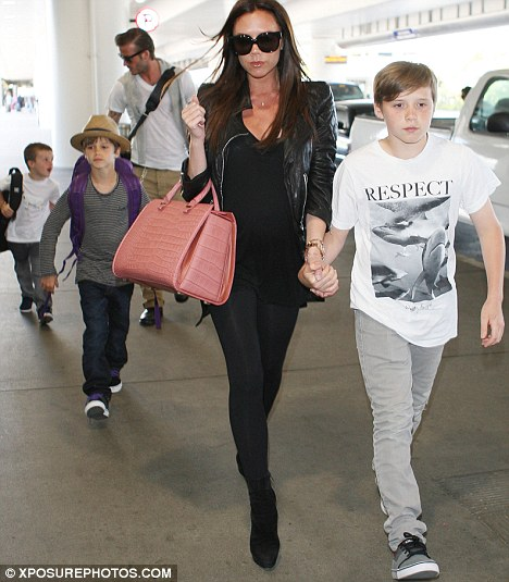 Born Stateside: Victoria Beckham is said to have booked in her C-section in Los Angeles for the 4th of July