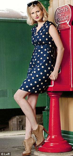 Dress £55, joules.com. Lace-ups £254, Russell & Bromley, 020 7629 6903. Sunglasses £59, jigsaw-online.com