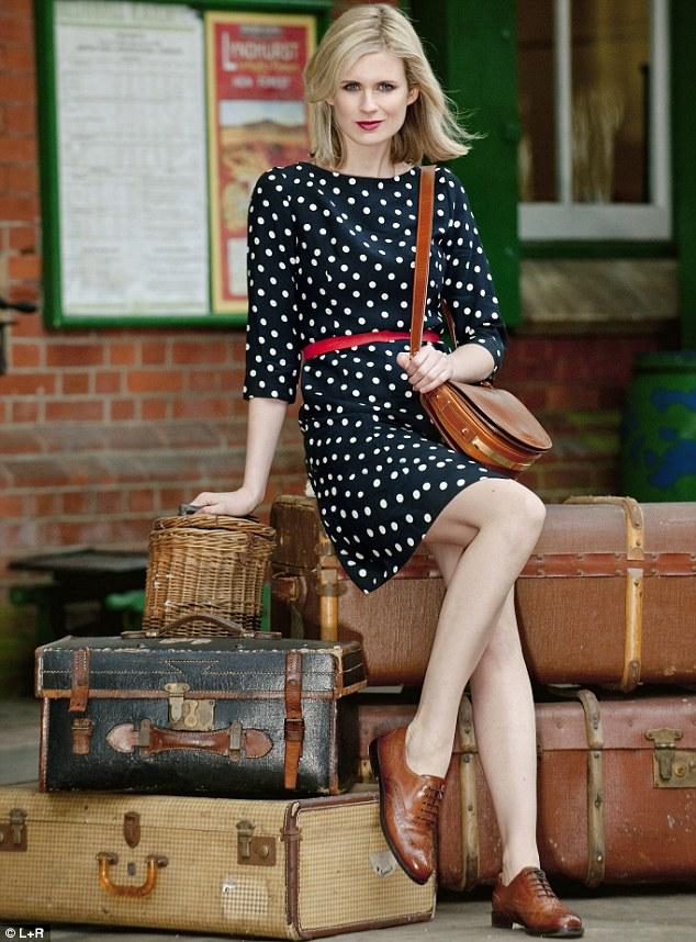 Dress £49.99, bag £59.99, Zara.com Red belt £9.99, H&M, 020 7323 2211 Brogues £155, Russell & Bromley, 020 7629 6903