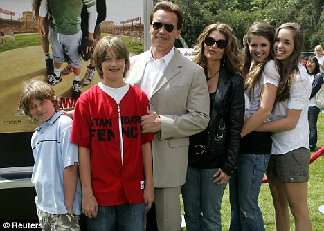 Child number 5: Arnold and his wife Maria Shriver had four children together