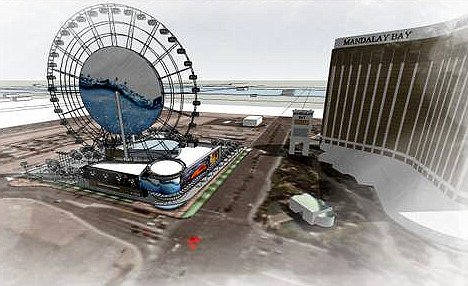 Scenic: The wheel will offer unparalleled views of the strip and change the Las Vegas skyline forever