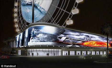 Birds eye view: An artist's impression of what the wheel will look like when it is completed by 2013