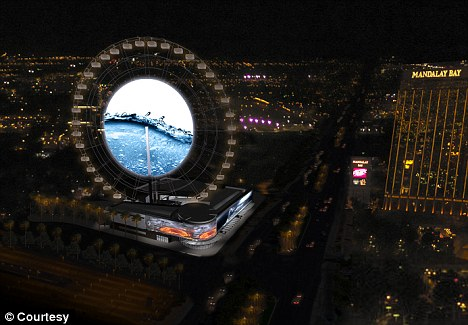 Plans: The 500-foot wheel will be on the southeast corner of Las Vegas Blvd and Mandalay Bay Drive and should be completed in 18 months