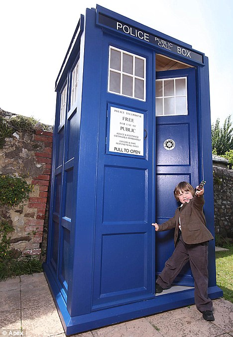 Lucky youngster: Zachary even has his own authentic Doctor costume just like his hero Matt Smith's