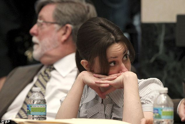 Hot body: Casey Anthony appears in court with attorney Cheny Mason for her trial today