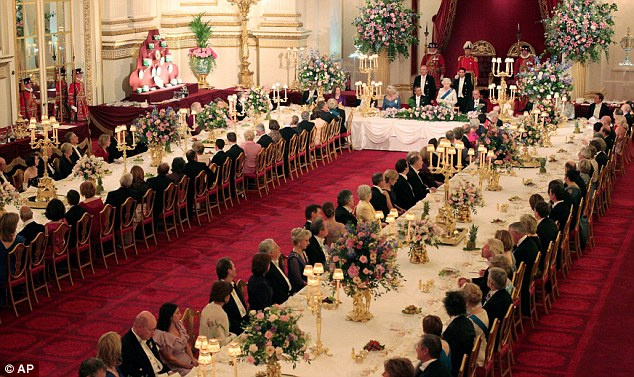 Oops: President Obama's toast to the Queen at the state banquet was a slight embarrassment for all parties involved when the orchestra began to play the National Anthem before he had finished speaking