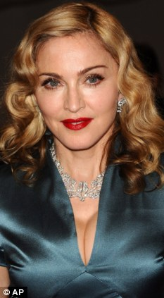 Like a virgin: Pop star Madonna was smuggled into the monastery and spent over an hour with the relics there