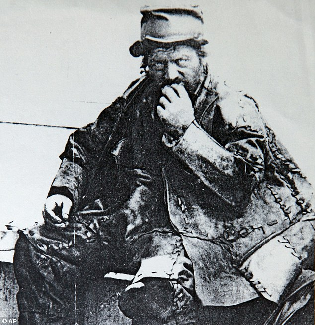 Legendary figure: Rare photo provided by The Ossining Historical Society of The Leatherman, who from the late 1850s to 1889 roamed the trailways of New York state and Connecticut