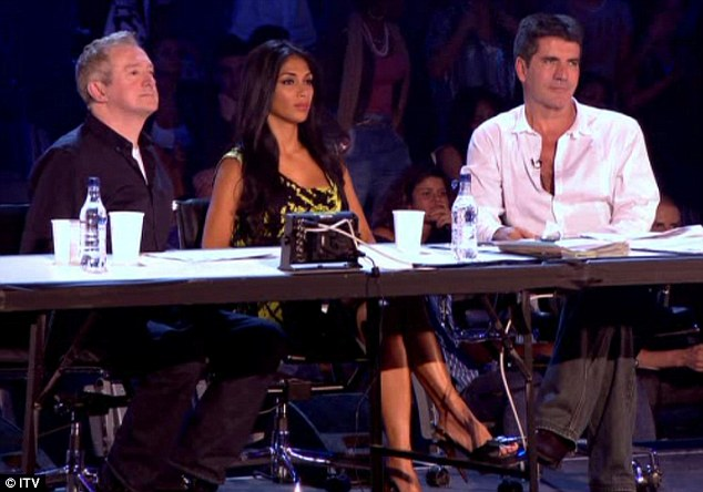 Experienced: Scherzinger had previously replaced Cole on the UK X Factor when she was seriously ill with malaria