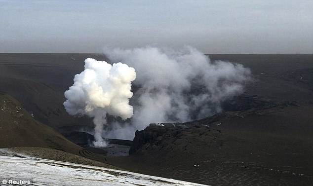 Smoke rises from the Grimsvotn volcano in southeast Iceland. There was concern in Poland that the resulting volcanic ash over Europe could prevent Mr Obama flying to Warsaw. But by yesterday the ash was dispersing