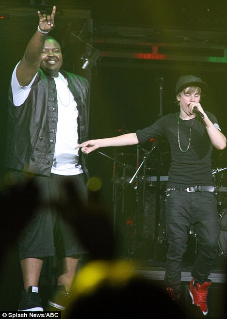 Sean Kingston and Justin Bieber perform their hit song 'Eenie Meenie' to a sold out show at the Air Canada Centre in Toronto in 2010