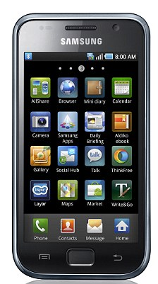 The Samsung Galaxy 5 mobile telephone