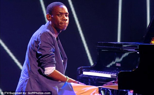 Piano man: Paul Gbegbaje was in tune with what the judges wanted and got a resounding thumbs up from all four