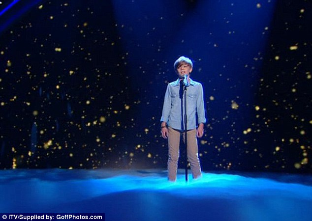 On song: Ronan is an early favourite to win £100,000 and a place on the Royal Variety Performance bill in December