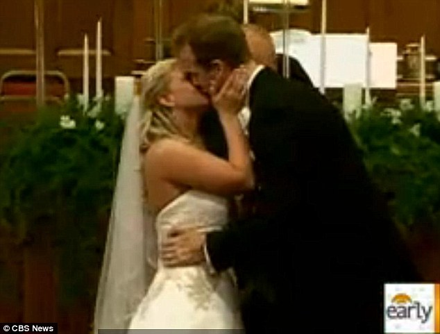 Against the odds: McKenzie 'Brooke' Watson and Aaron Cox went ahead with their wedding despite worrying that it might be in poor taste after the Joplin tornado