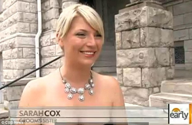 Alive and well: Sarah Cox, the groom's sister, whose home was completely destroyed by the tornado, said the wedding was 'meant to be'