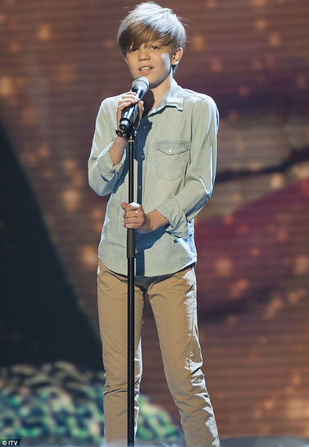 British Bieber: Ronan Parke sailed through to Saturday night's Britain's Got Talent final after earning the most public votes with his performance of Adele's Make You Feel My Love