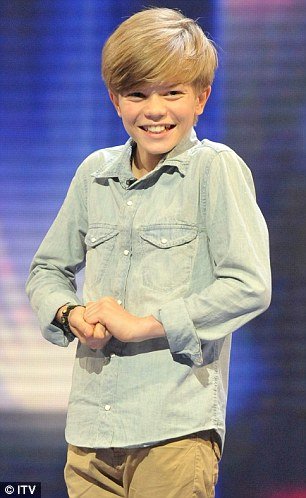 Adorable: Ronan's modesty and artfully-crafted Bieber hair won over the audience and the judges
