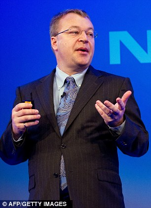 Nokia Chief Executive Stephen Elop addresses delegates during the Nokia Strategy and Financial Briefing at the Intercontinental Hotel in central London in February