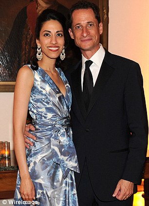 Farewell to womanising: Congressman Weiner seemed to put his playboy past behind him when he married Huma Abedin last year